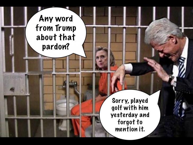Hillary Jailed